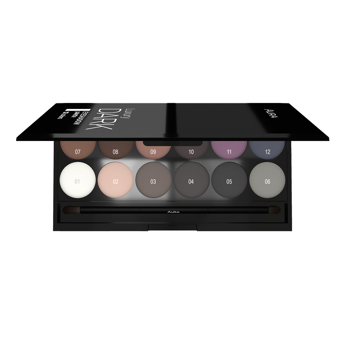 Paleta senki za oči LUXURY DARK Palette 12 colours