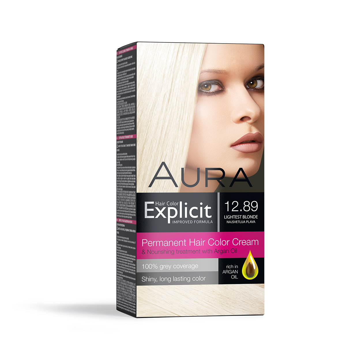 Set za trajno bojenje kose EXPLICIT 12.89 Lightest blonde / Najsvetlije plava