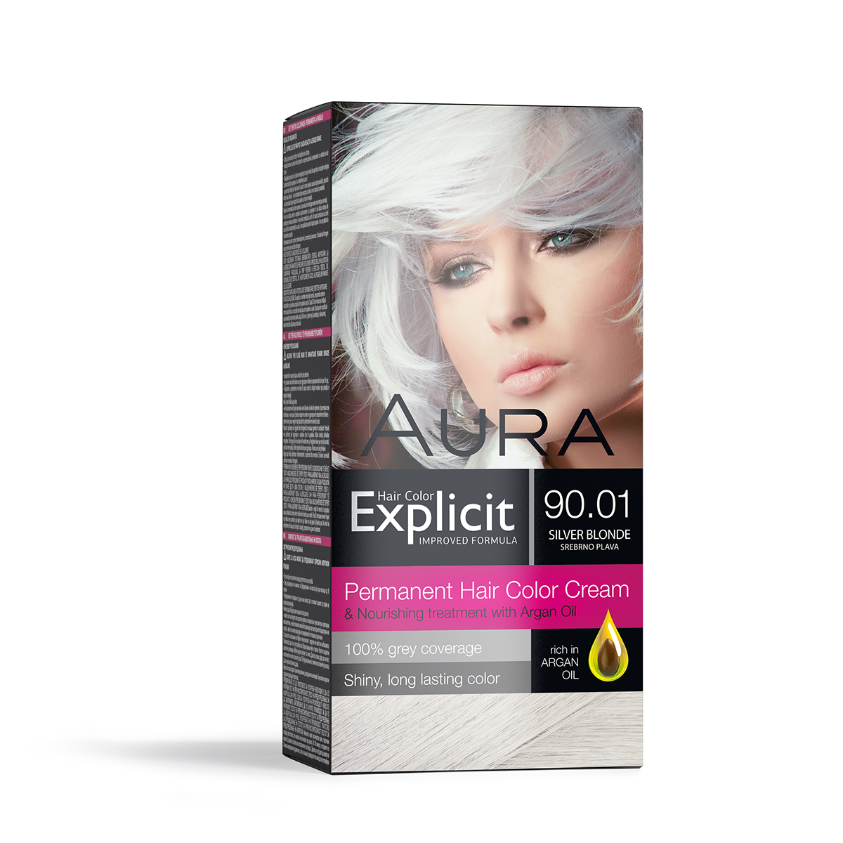 Explicit hair colour 90.01 Silver Blonde