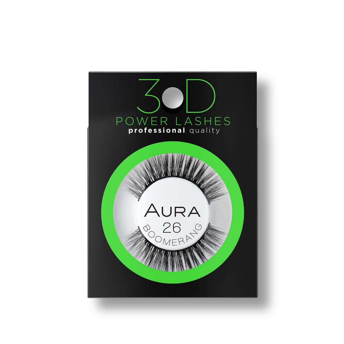 3D Veštačke trepavice 3D POWER LASHES 26 Boomerang