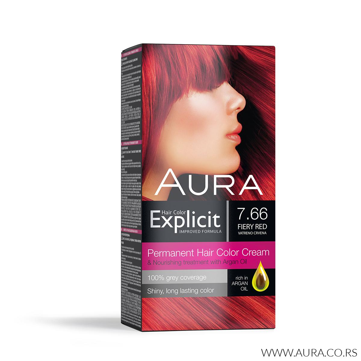 Explicit hair colour 7.66 Feiry red